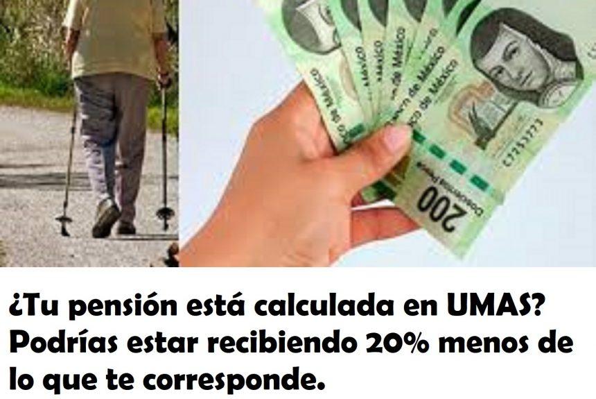 ¿Tu pensión está calculada en UMAS? Podrías estar recibiendo 20% menos de lo que te corresponde