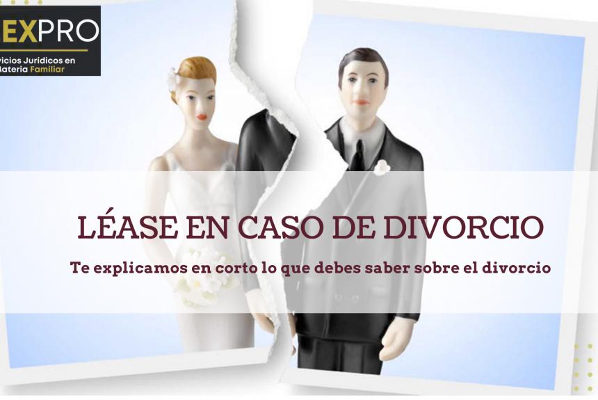 Léase en caso de divorcio