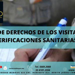 CARTA DE DERECHOS DE LOS VISITADOS EN VERIFICACIONES SANITARIAS