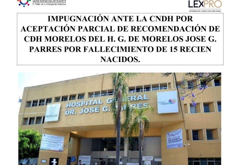 Medidas por aceptación parcial de recomendación de CDH Morelos del H. Jose G. Parres