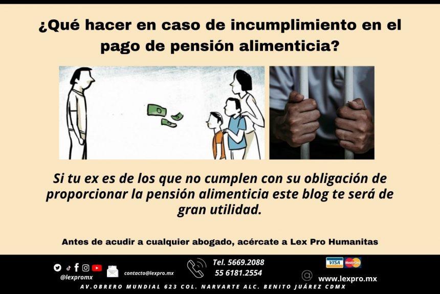 ¿Qué hacer en caso de incumplimiento en el pago de pensión alimenticia?